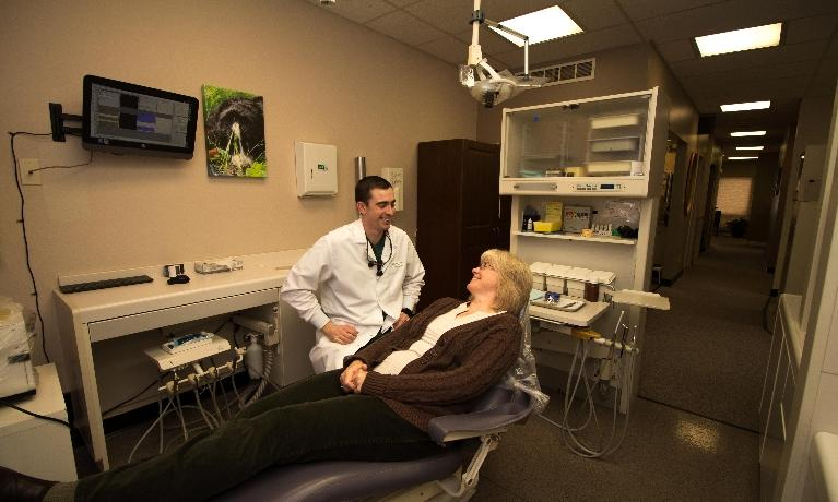 Nelson Dentistry treatment room with patient